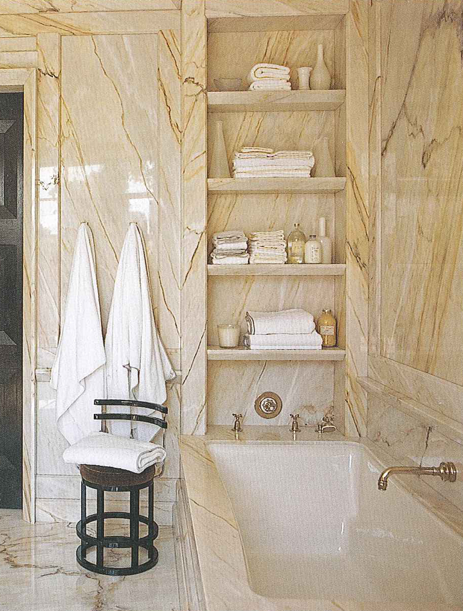 Books steven gambrel time and place the perfect bath for Bathroom in wall shelves