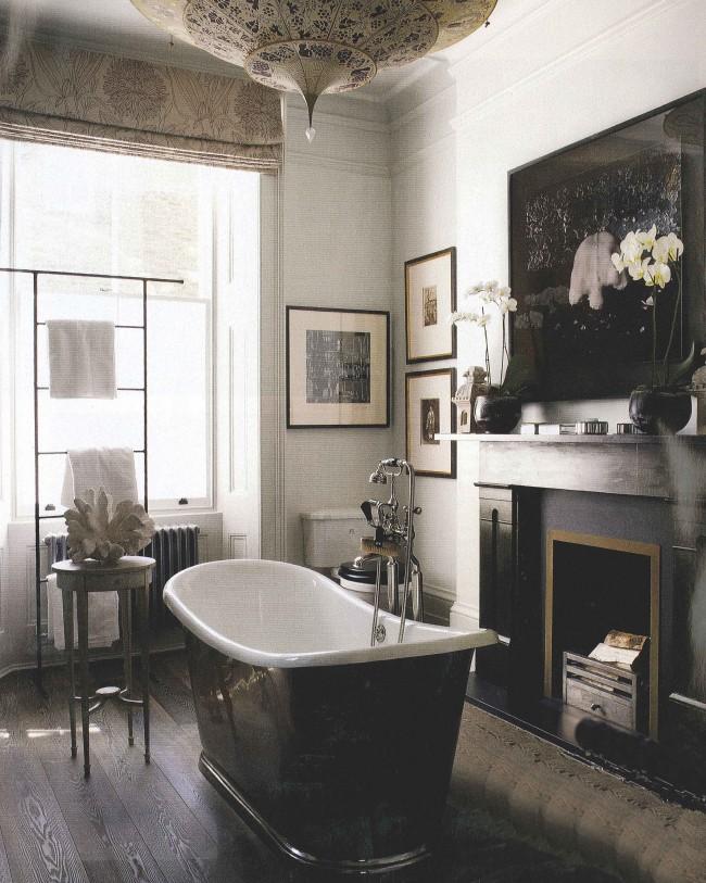 Wood floors the perfect bath for Elle decor bathroom ideas