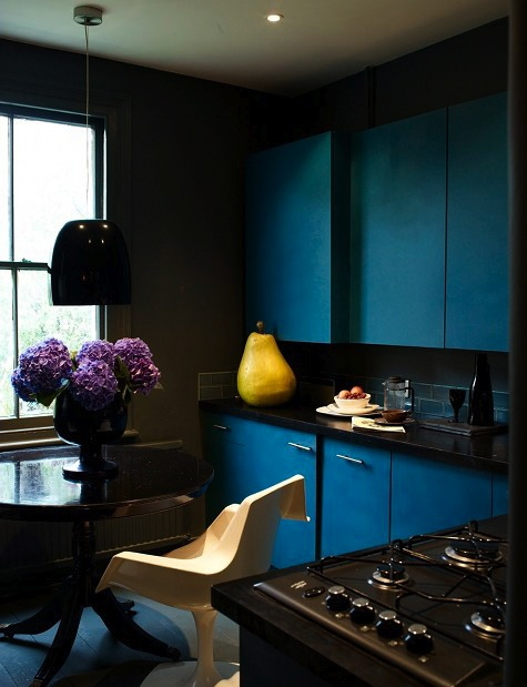 Dark and dramatic kitchens and baths the perfect bath for Perfect kitchen and bath