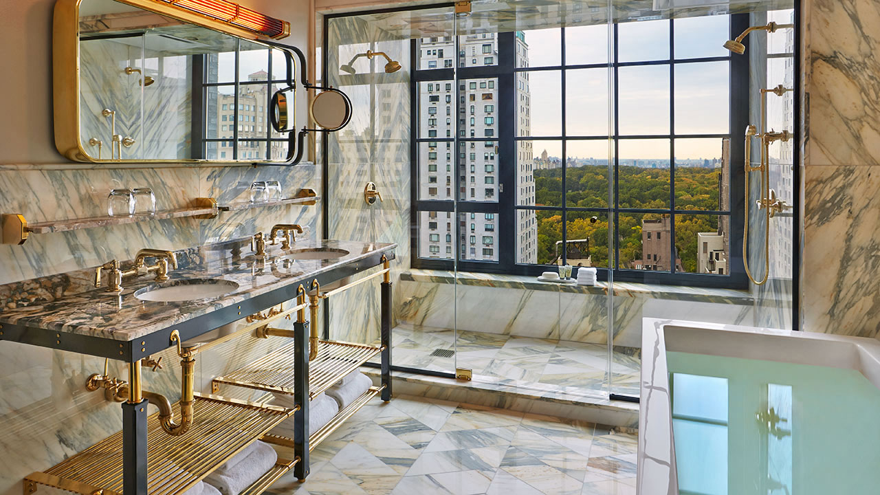 A city respite at the viceroy new york the perfect bath for Bathrooms in nyc