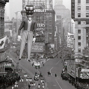 The 1941 version of the parade. It looks like there were fewer spectators at that time.